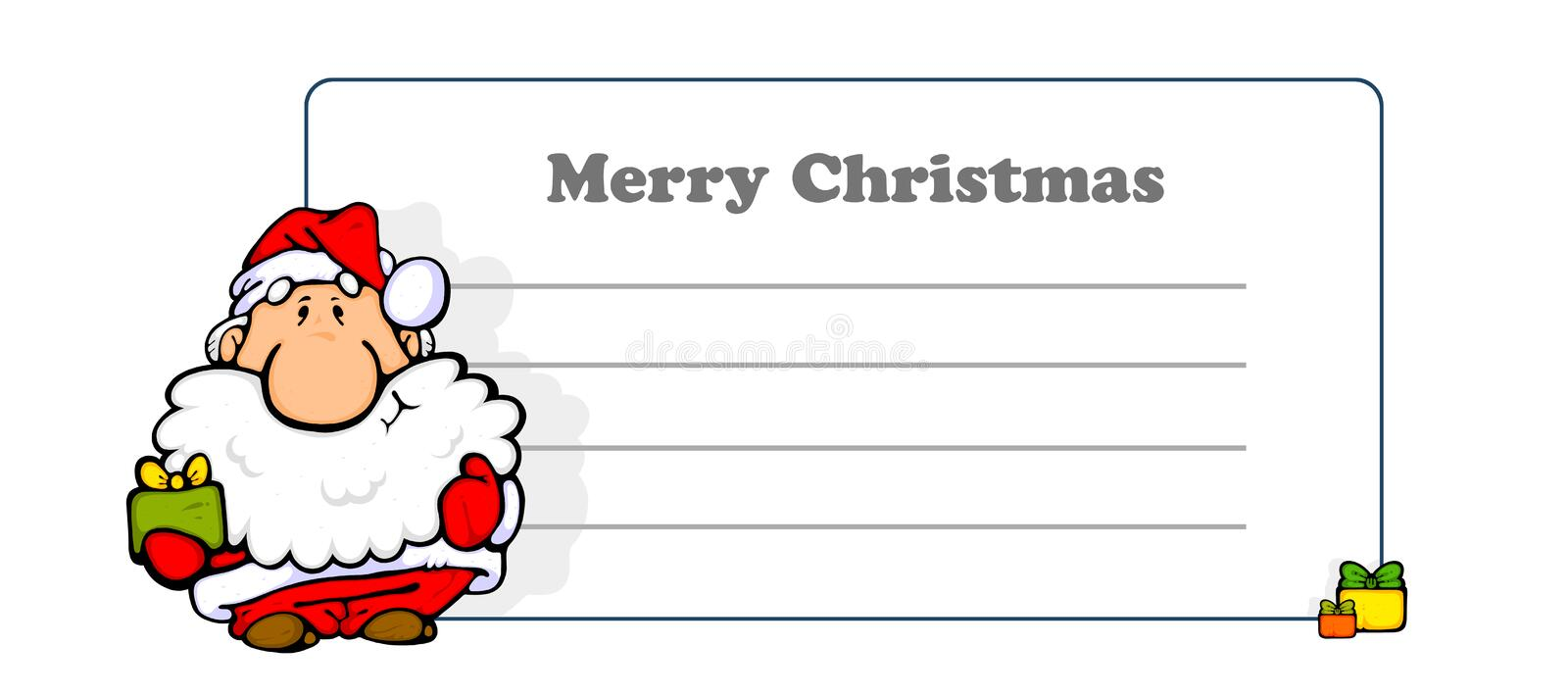 Greeting card on Merry Christmas