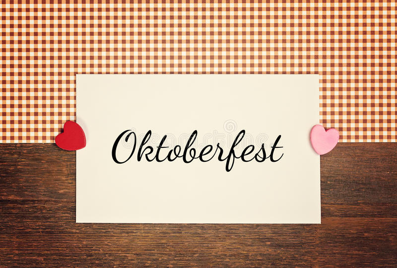 Greeting-card - oktoberfest stock image