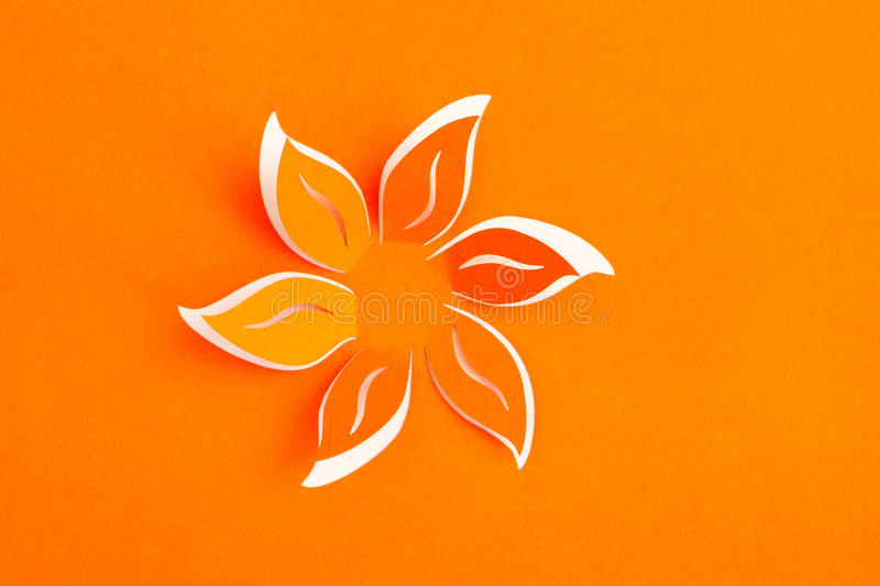 Greeting card with paper flower.  stock image