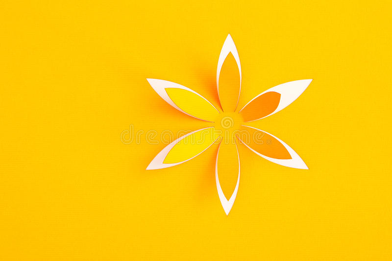 Greeting card with paper flower.  stock photography