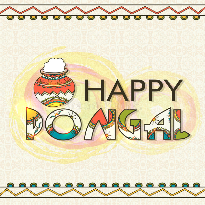 Greeting card for pongal celebration stock image image of festive beautiful greeting card design with traditional mud pot for south indian harvesting festival happy pongal celebration m4hsunfo