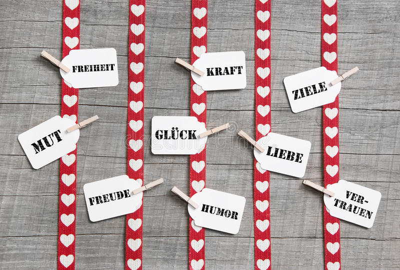 Download Greeting Card With Red Hearts For Valentines Day Or Birthday Wit Royalty Free Stock Image - Image: 35910926