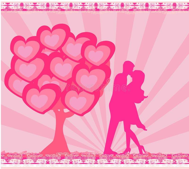 greeting card romantic couple stock illustration illustration of