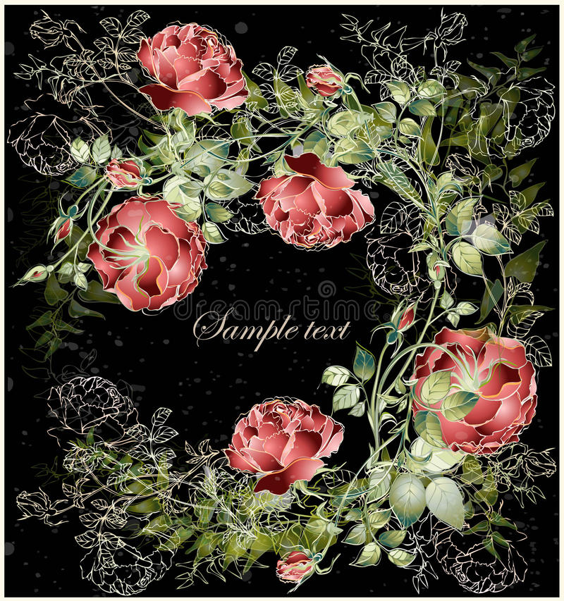 Greeting Card With Rose. Royalty Free Stock Photo