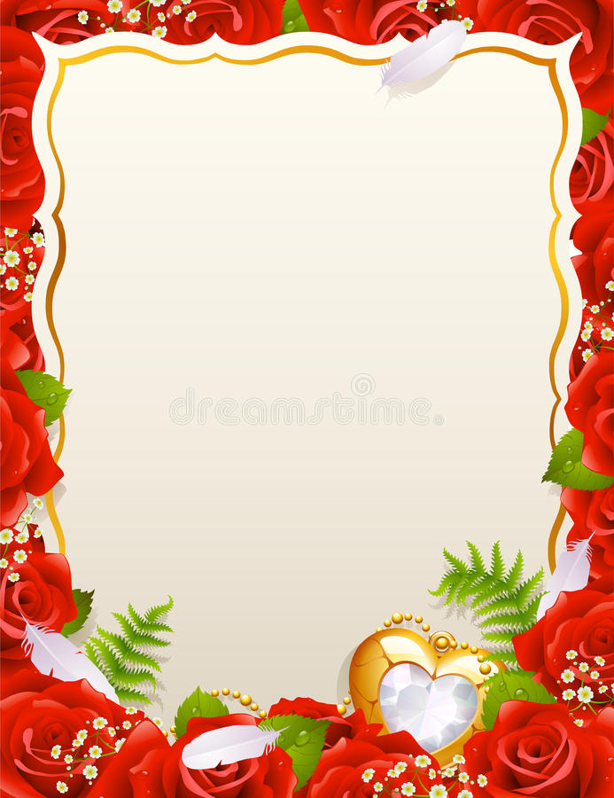 Download Greeting card with roses stock vector. Illustration of greeting - 12792829