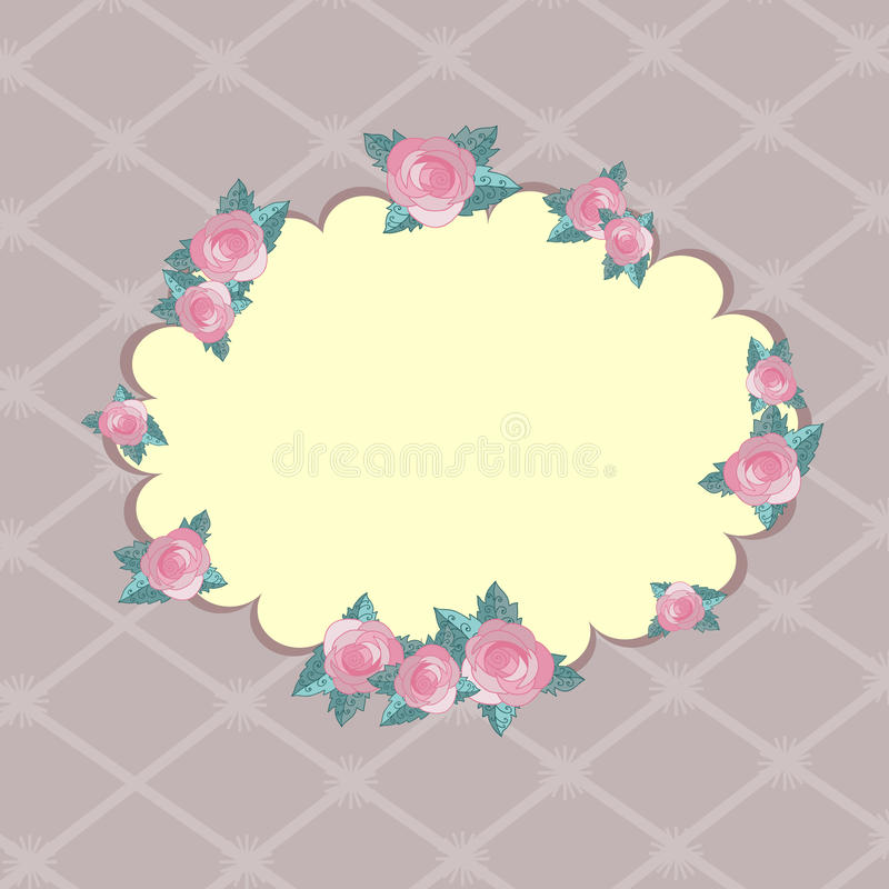 Download Greeting card with roses stock vector. Illustration of celebration - 22395346