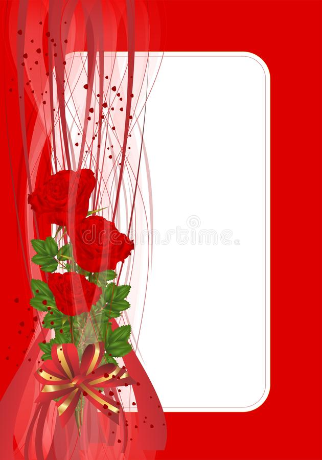 Download Greeting Card With Roses, Cdr Vector Stock Vector - Image: 22746142