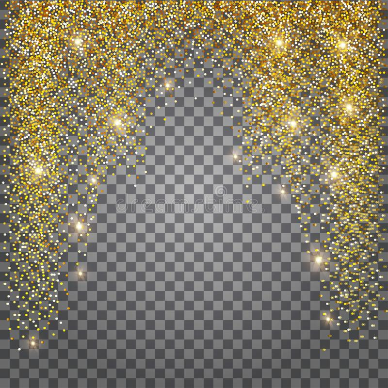 Free Greeting Card, Shimmer Golden Background. Brilliant Gold Tinsel. Royalty Free Stock Photo - 103221725