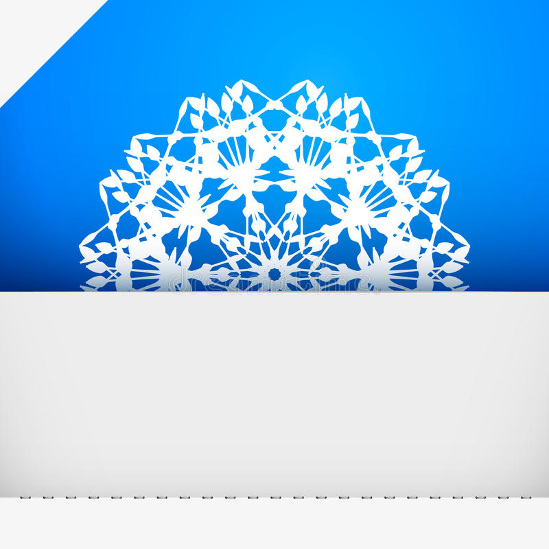 Greeting card with snowflake royalty free illustration