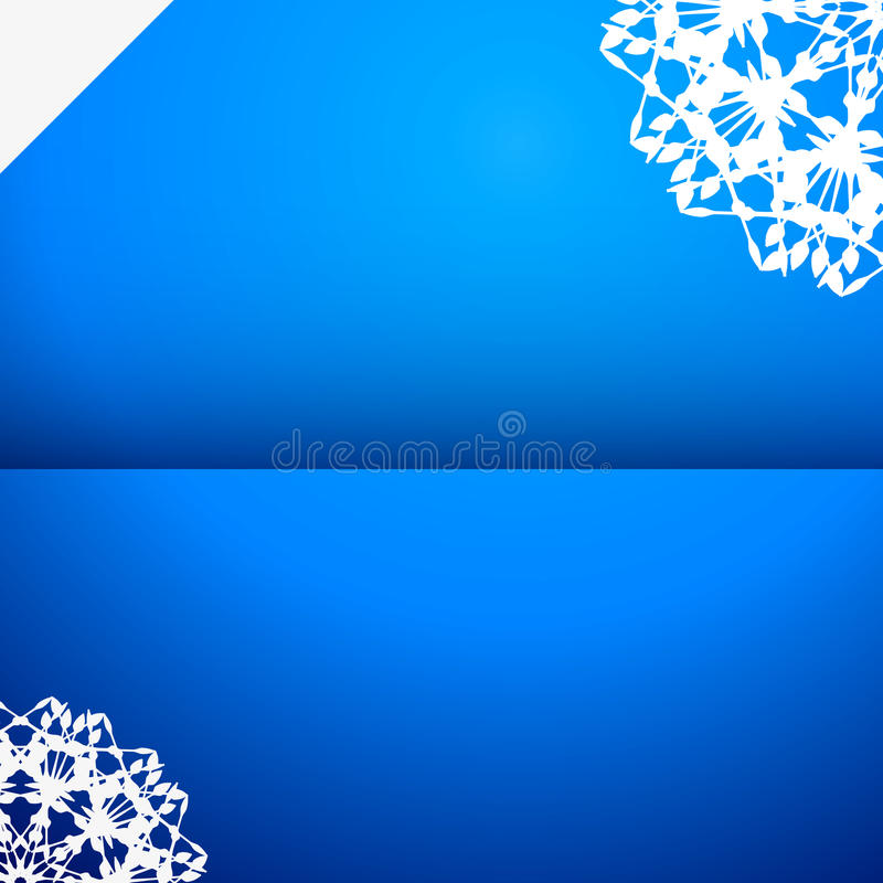 Greeting card with snowflake vector illustration
