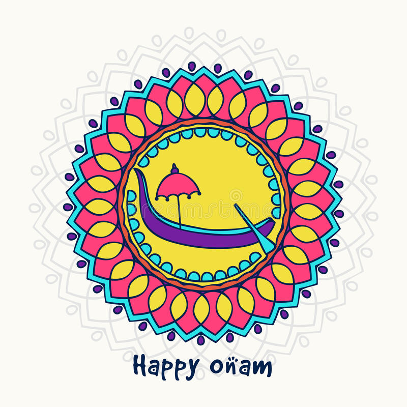 Greeting Card For South Indian Festival, Onam. Stock