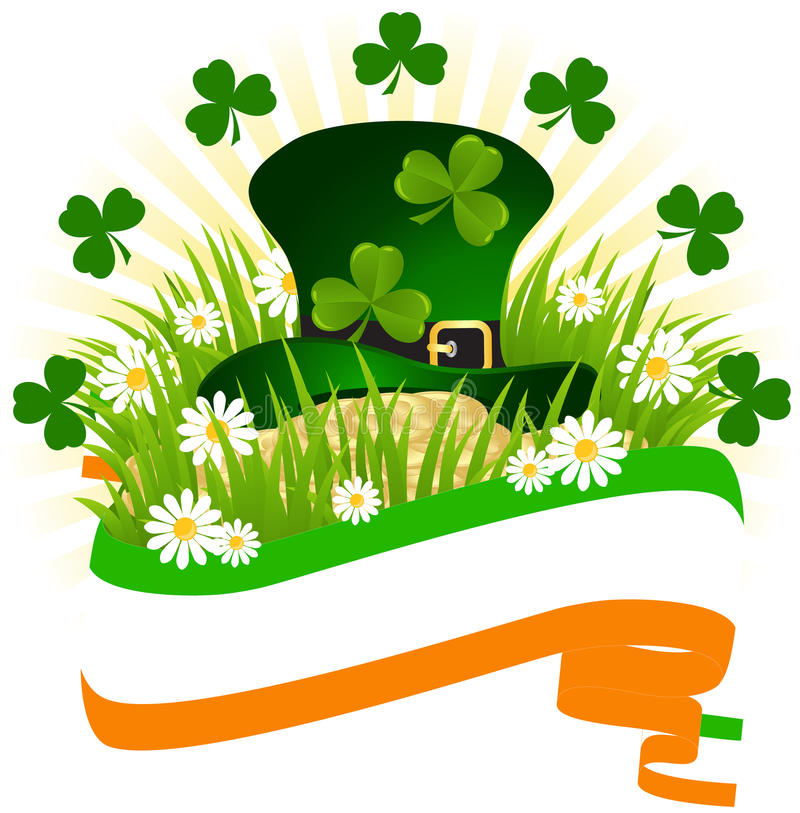 Greeting Card St. Patricks Day royalty free illustration