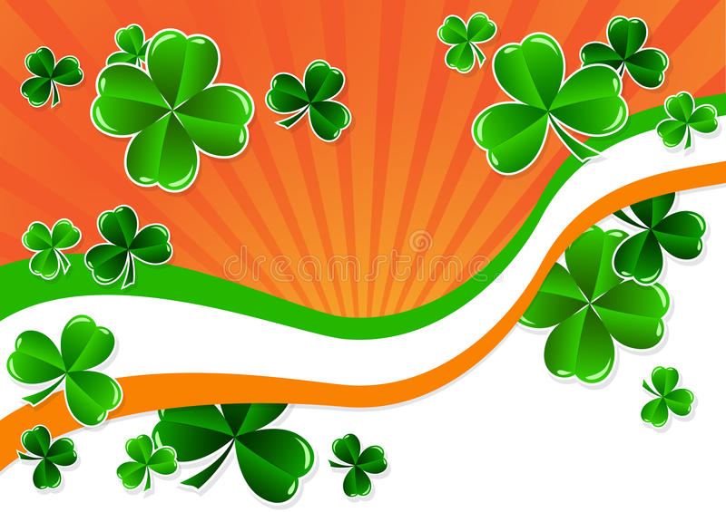 Greeting Card St. Patricks Day stock illustration