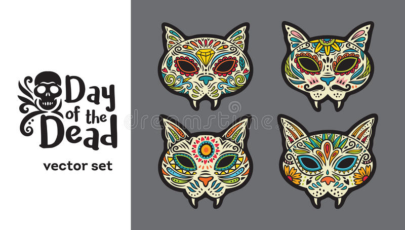 Greeting card with sugar skull cats traditional holiday in mexico download greeting card with sugar skull cats traditional holiday in mexico stock vector m4hsunfo Image collections