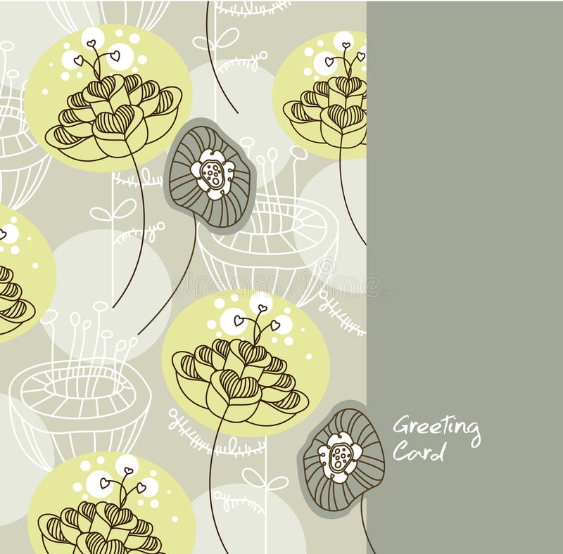 Greeting Card Template Royalty Free Stock Photos