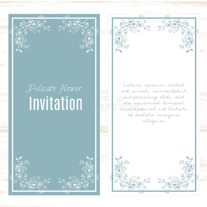 Download Greeting Card Template Floral Background. Stock Vector    Illustration Of Cover, Bachelorette:  Greeting Card Format