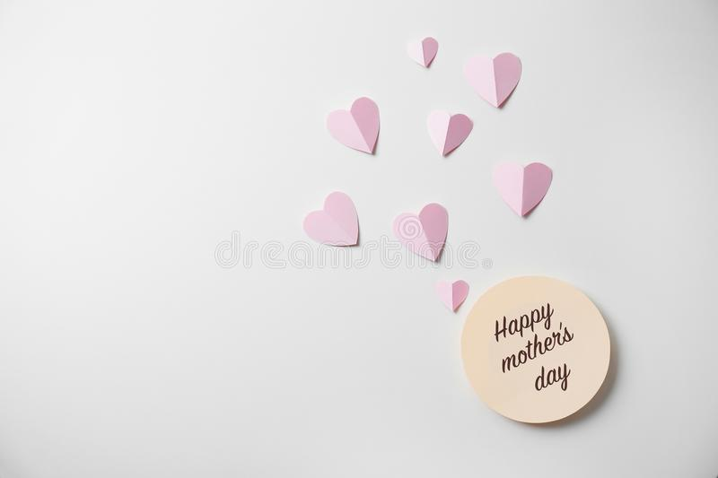 Greeting card with text HAPPY MOTHER`S DAY royalty free stock photo