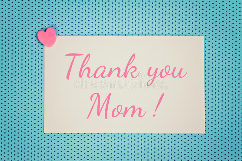 Greeting card thank you mom vector illustration