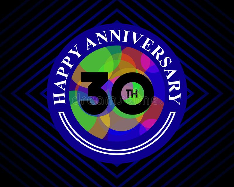 30 anniversary celebration card template vector illustration