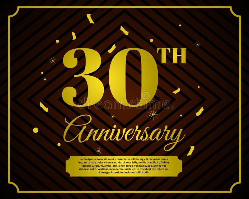 30 anniversary celebration card template stock illustration