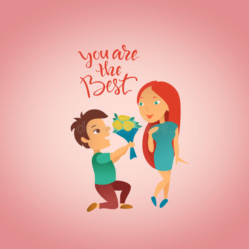 Download Greeting Card With Valentine`s Day Holiday. Stock Illustration - Image: 83712310