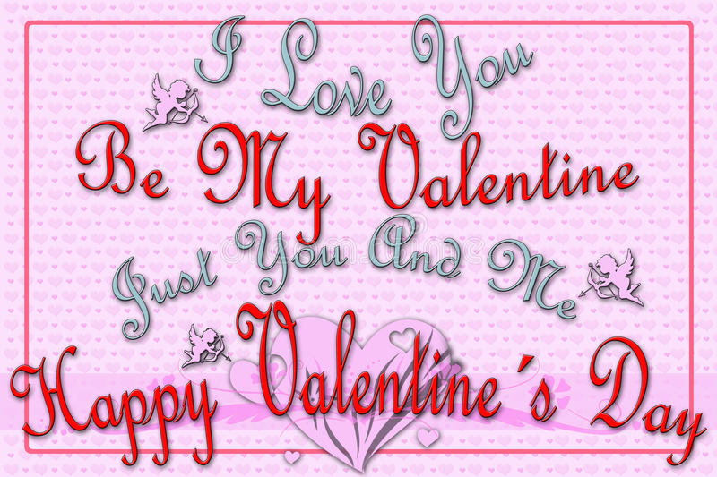 Download Greeting Card For Valentine's Day Stock Illustration - Illustration of card, decor: 36704891