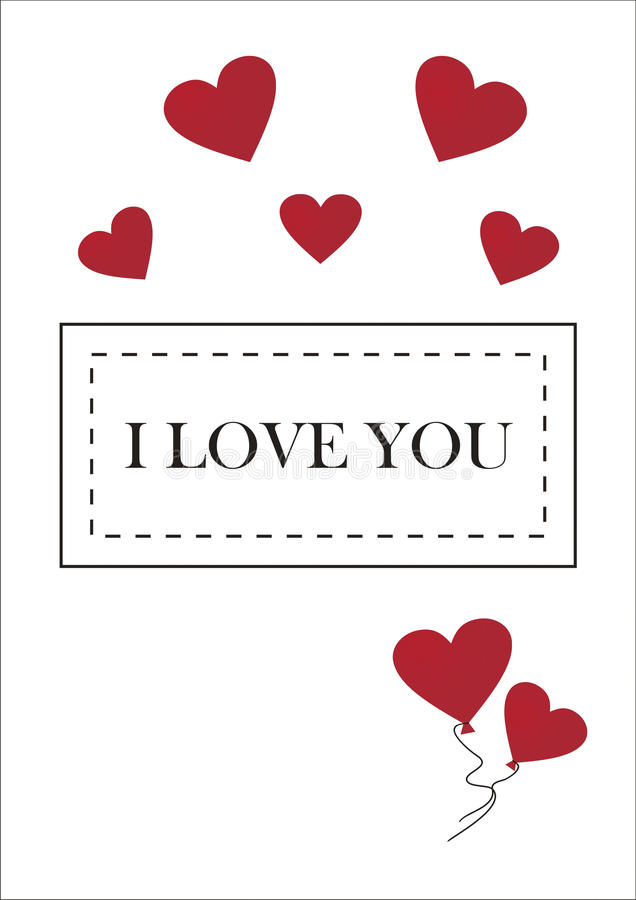 Download Greeting Card For Valentines Day Stock Illustration - Illustration of illustration, white: 28915002