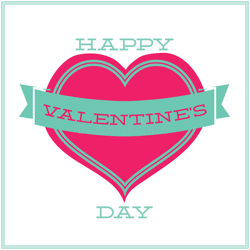 Download Greeting Card For Valentines Day. Minimalism Stock Vector - Illustration: 33959627