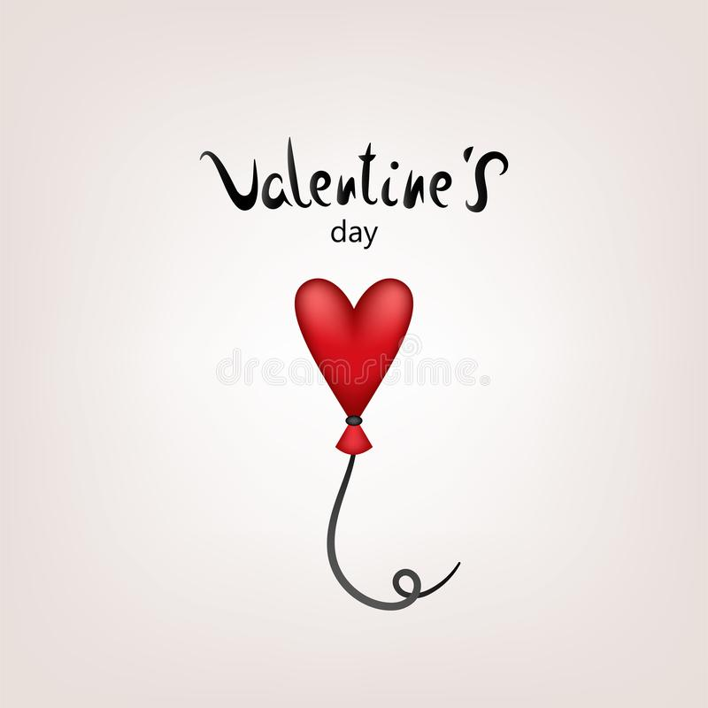 Valentine card ballon stock illustration