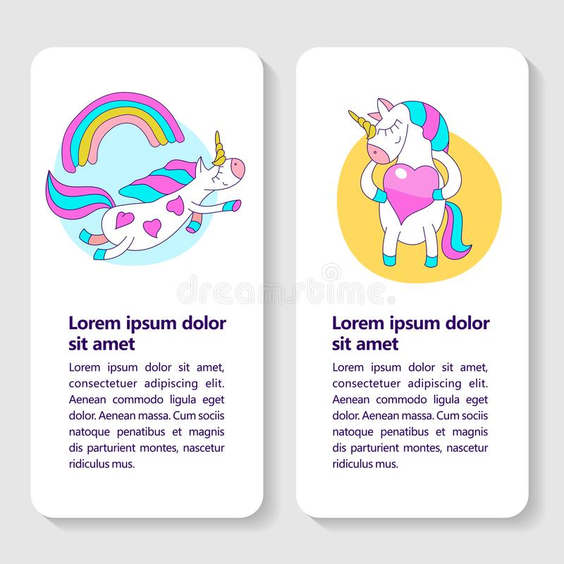 Free Greeting Card With A Cute Unicorn With Wings And A Rainbow. A Cute Magical Unicorn Holds A Big Pink Heart. Royalty Free Stock Photography - 116458287