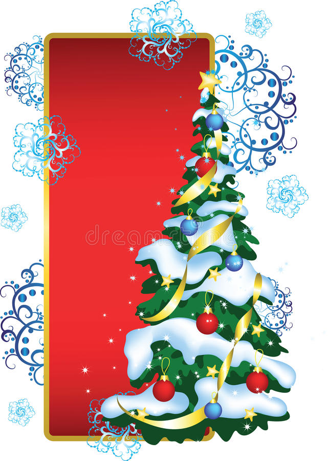 Free Greeting Card With Christmas Tree Stock Photo - 16663480