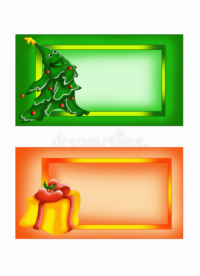 Greeting cards with 2 characters stock images