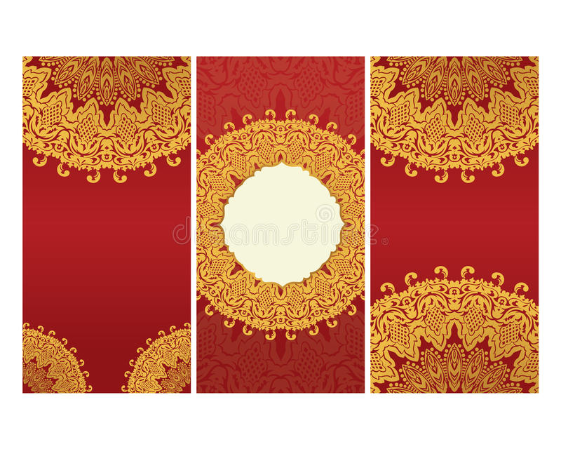Greeting cards in east style on red background stock vector download greeting cards in east style on red background stock vector illustration of moroccan m4hsunfo