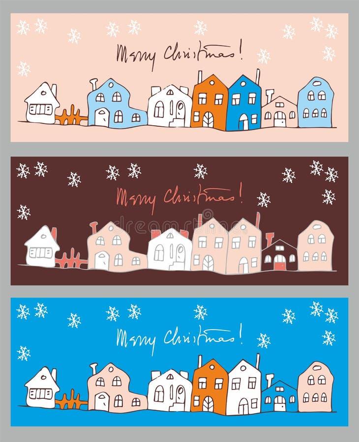 Greeting cards set stock image