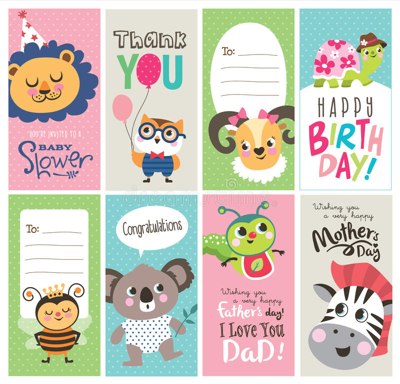 Greeting cards royalty free illustration