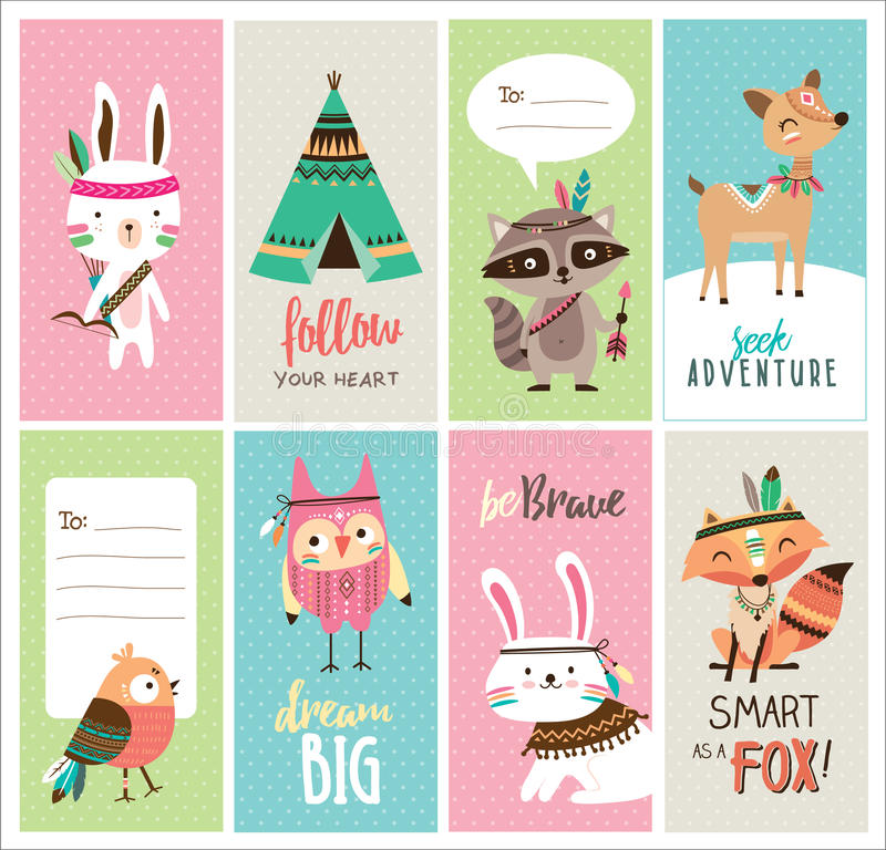 Greeting cards vector illustration