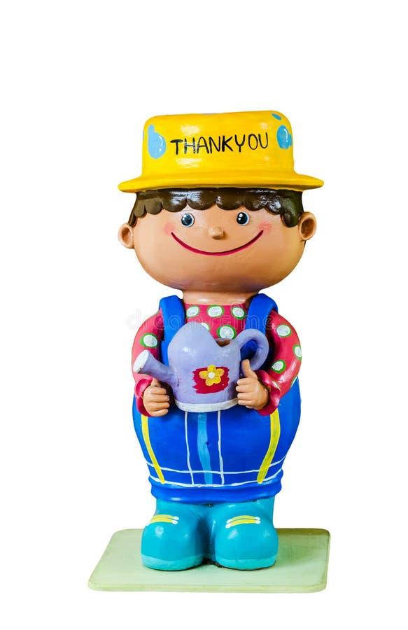 Greeting Ceramic Doll Stock Photo