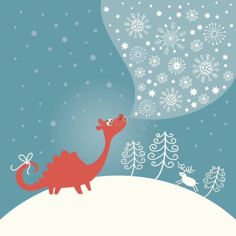 Greeting Christmas card vector illustration
