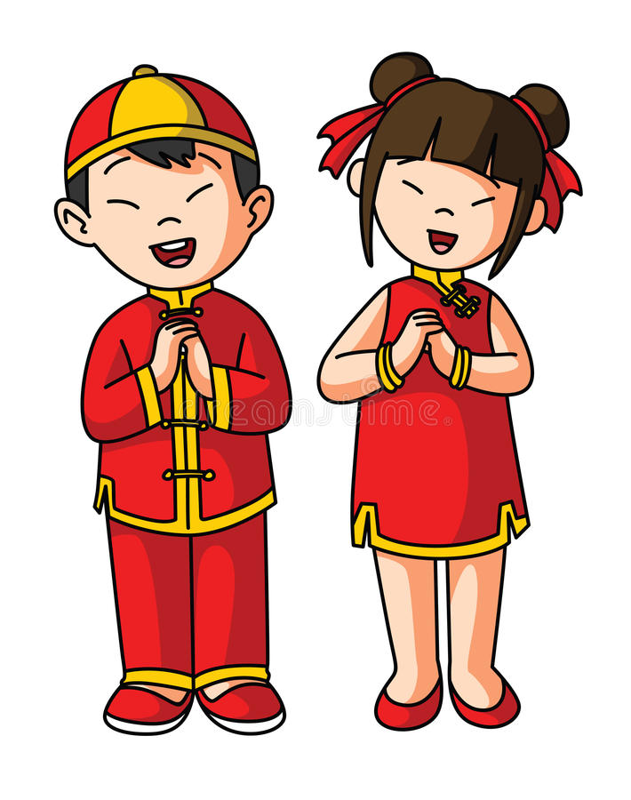 Greeting Couple For Chinese Happy New Year Stock