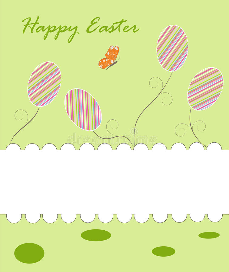 Greeting easter background stock images