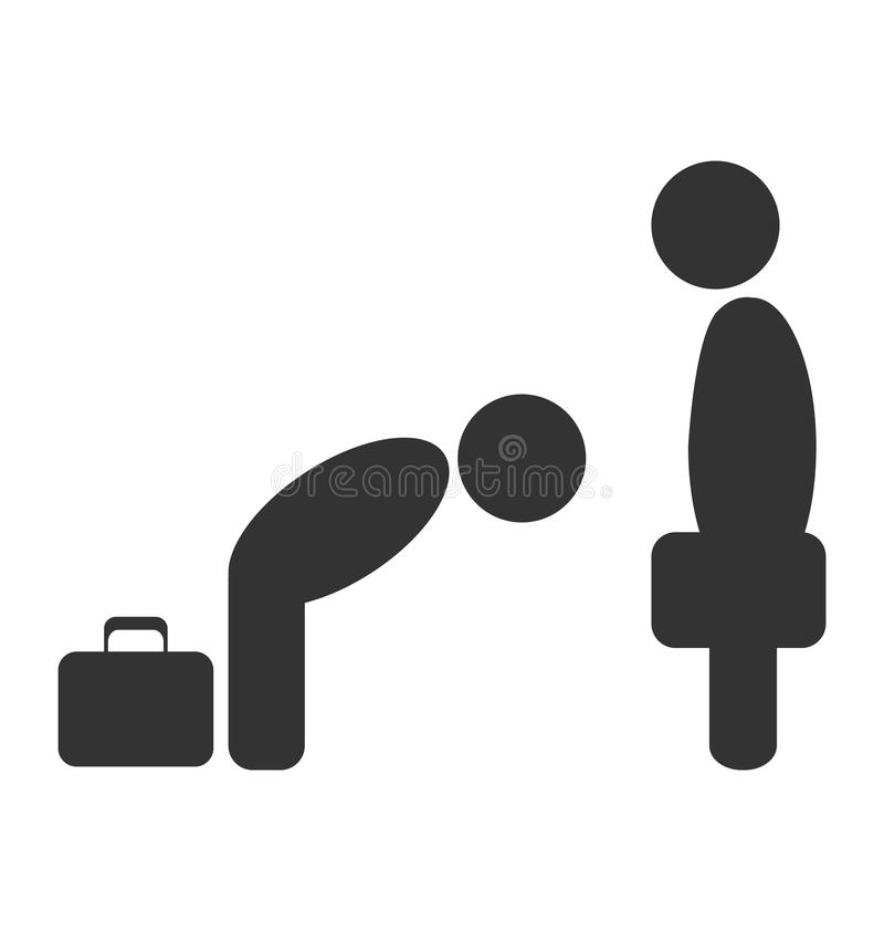 Greeting Etiquette Business Situation Icon Isolated On White Stock ...