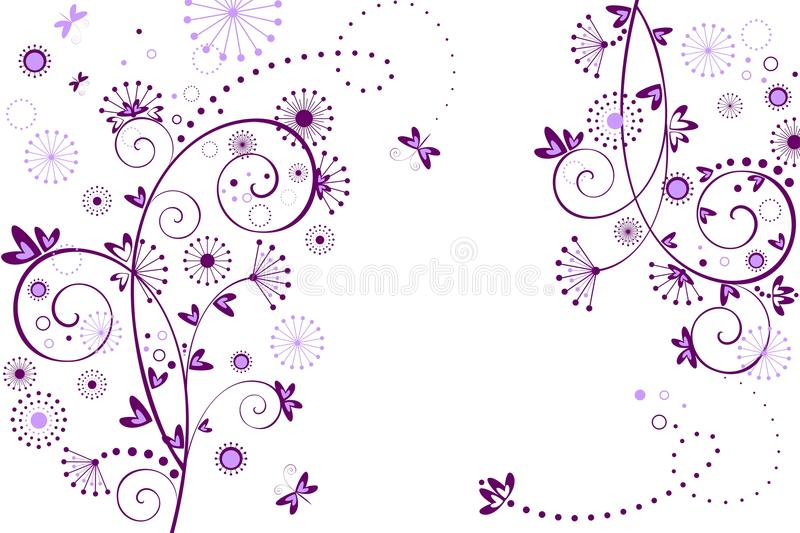 Greeting floral card. Greeting floral abstract violet card royalty free illustration