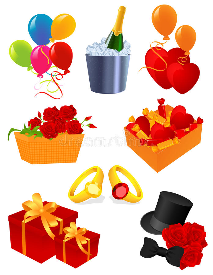 Greeting Icons Royalty Free Stock Photography