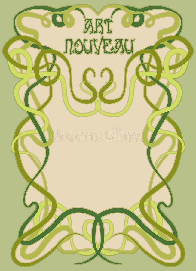 Greeting invitation card in art nouveau style stock vector download greeting invitation card in art nouveau style stock vector illustration of floral festival stopboris Images