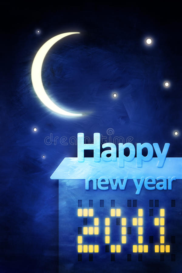 greeting lyckligt nytt år för kort vektor illustrationer