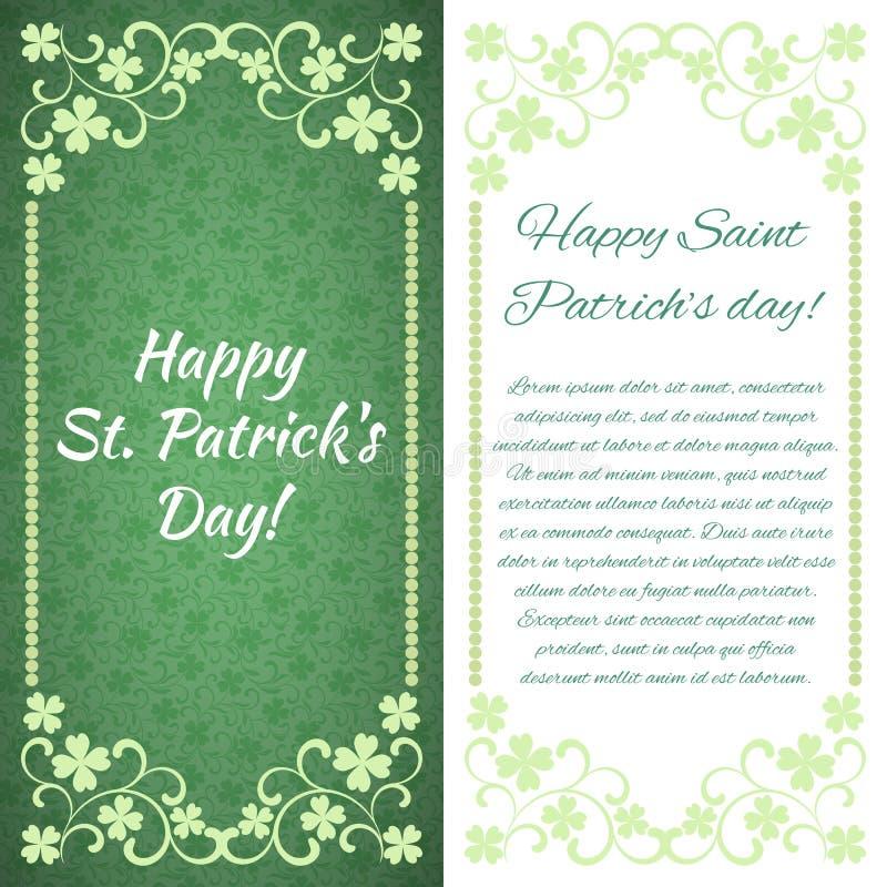 greeting lyckligt nytt år för 2007 kort Lycklig dag för St Patrick ` s! Det finns ett ställe för text vektor illustrationer