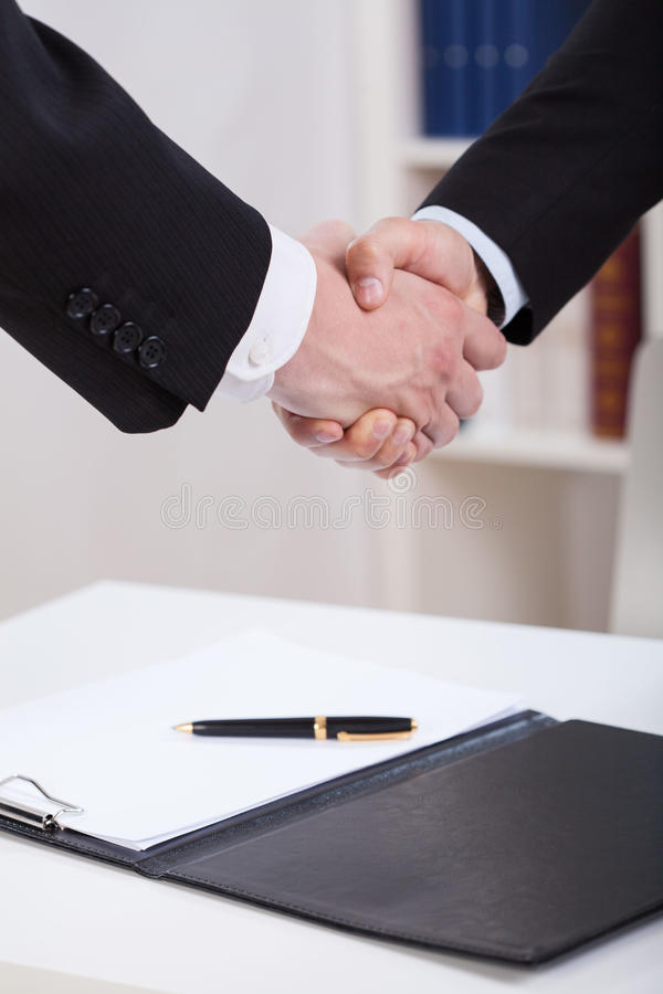 Greeting on the meeting stock images