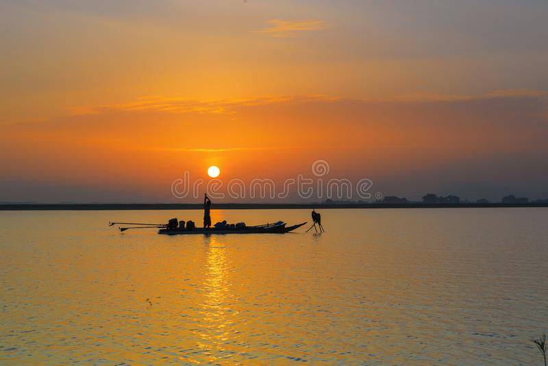Greeting the new day stock photography
