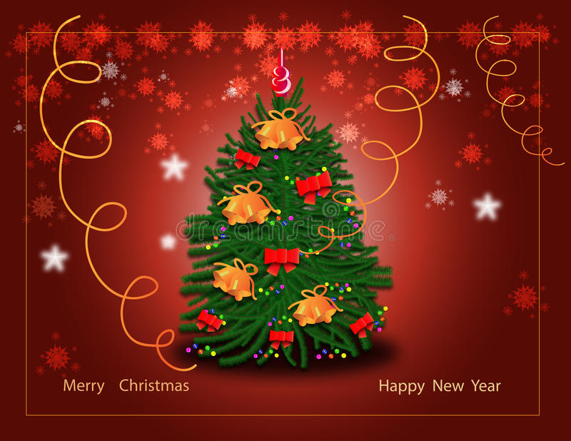Greeting the new year royalty free stock photo