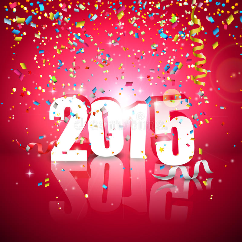 greeting nytt år för kort vektor illustrationer